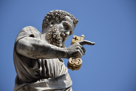 Statue of St  Peter in the Vatican City, Rome, Italy