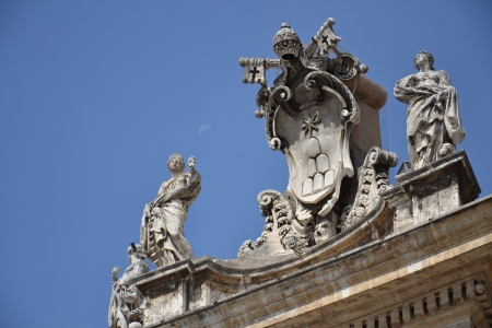 st peter s basilica: Vatican symbol at St  Peter s Basilica, Vatican