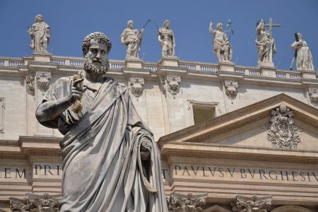 Statue of St  Peter in the Vatican City, Rome, Italy Stock Photo - 15250501