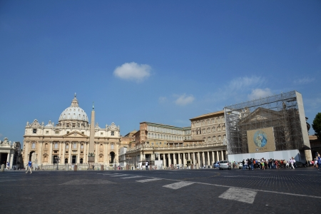 Rome, Italy - July 11, 2012: Saint Peters Square in Vatican.