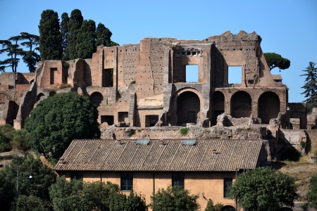 Ruins of the Domus Augustana on Palatine Hill. Stock Photo - 15474246