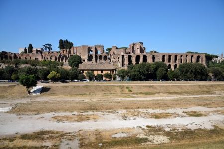 augustus: Circus Maximus - ruins on the Palatine Hill in Rome.