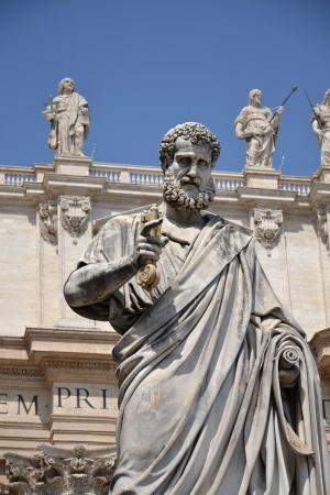 Statue of St. Peter in Vatican Editorial