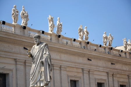 Statue of St. Peter in Vatican Editorial