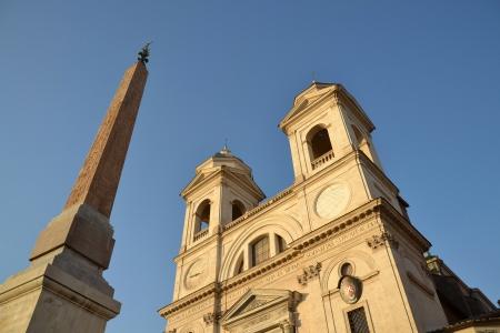 monti: Church Trinita dei Monti in Rome, Italy Stock Photo