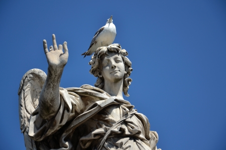 Angel with the Nail from Ponte Sant Angelo in Rome, Italy