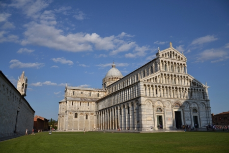 The Duomo of the Cathedral Square in Pisa, Italy