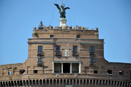 Rome, Italy - July 10, 2012: Tourists at the Castel Sant Angelo in Rome, Italy.
