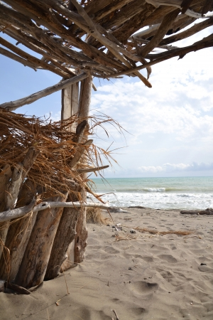Hut on a beach Stock Photo - 16921845