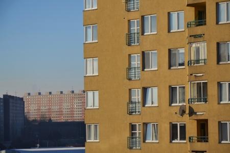 block of flats: Block of flats in Prague, Czech republic
