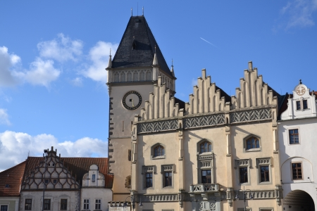 guild halls: Old City Hall in Tabor, Czech Republic Stock Photo