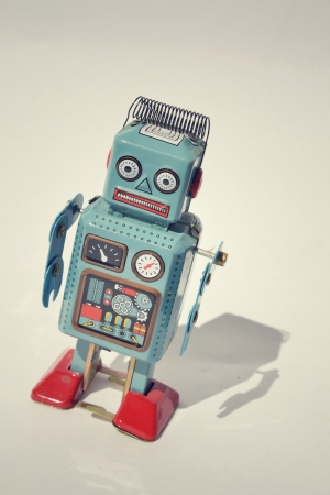 Vintage tin toy robot photo