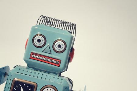 빈티지 양철 장난감 로봇 스톡 콘텐츠 - 24825090