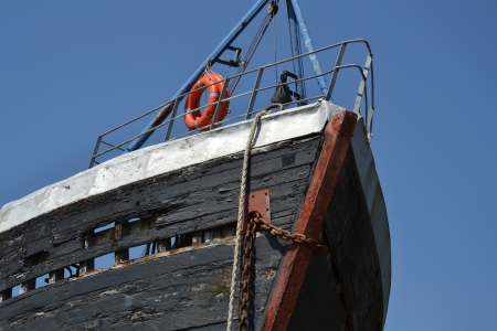 Abandoned shipwreck in Fort William, Scotland, United Kingdom photo