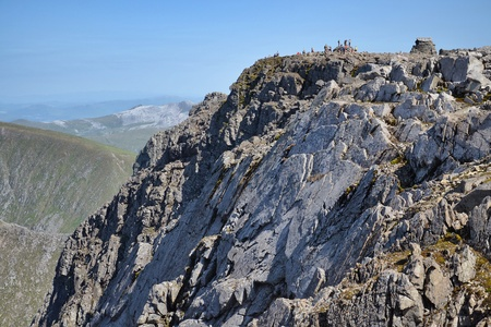 highlands region: Ben Nevis summit - the highest mountain in the United Kingdom