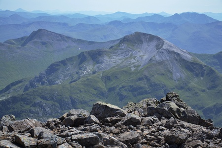 View from the Ben Nevis summit Stock Photo - 26933741