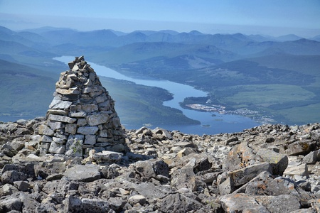 highlands region: View from the Ben Nevis summit