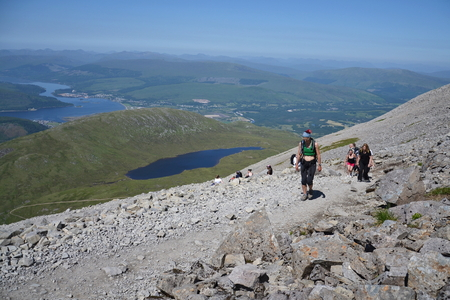Path to the Ben Nevis summit - the highest mountain in the United Kingdom