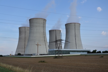 dukovany: Cooling towers at the nuclear power plant in Dukovany, Czech republic