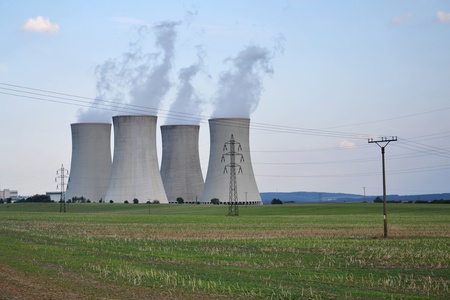 Cooling towers at the nuclear power plant in Dukovany, Czech republic