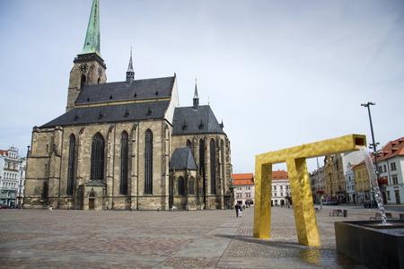 Cathedral of St. Bartholomew in Pilsen, Czech republic Standard-Bild