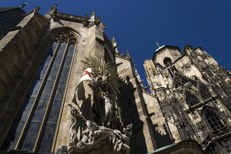 saint stephen cathedral: St. Stephens Cathedral (Stephansdom) in Vienna, Austria Stock Photo