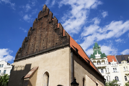 jewish quarter: Old New Synagogue in Prague - oldest active European synagogue Stock Photo