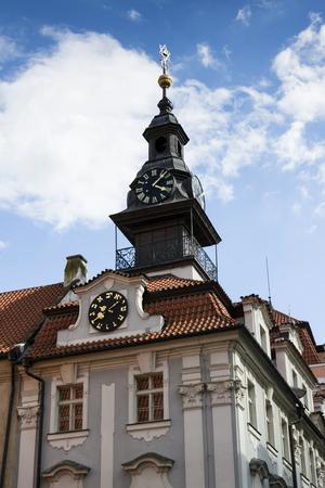 jewish town: The Jewish Town Hall in Prague, Czech republic Stock Photo