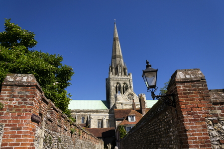 sacred trinity: Cathedral Church of the Holy Trinity in Chichester, England Stock Photo