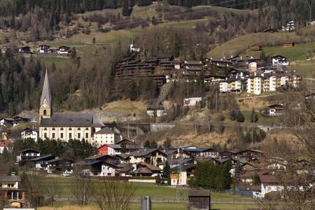 matrei: Ski resort town Matrei in Osttirol, Austria