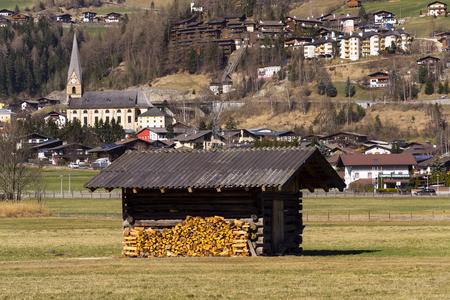 Ski resort town Matrei in Osttirol, Austria