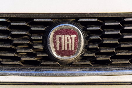 Prague Czech Republic January 20 Fiat Company Logo On Car