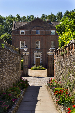 Brick lane to Deanery in Chichester, West Sussex, England