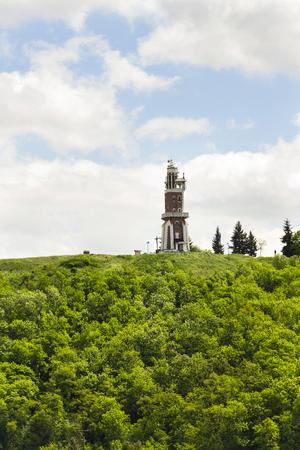 Schillers Lookout near Kryry, Czech republic with blue cloudy sky Stock Photo