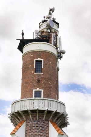 送信機と Schillers 展望台 Kryry、チェコ共和国の近くにアンテナ
