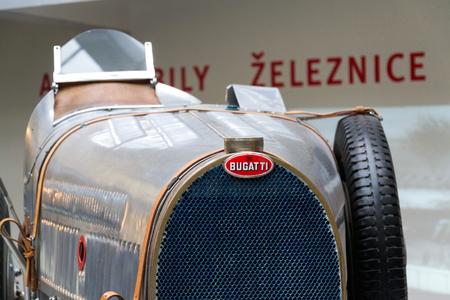aerodynamic: PRAGUE, CZECH REPUBLIC - NOVEMBER 10: Bugatti Type 51 premier racing car from 1931 stands in National technical museum on November 10, 2017 in Prague, Czech republic.