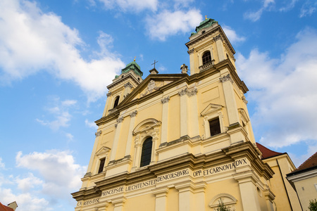 Baroque church of Virgin Mary Assumption in Valtice, Moravia, Czechia