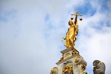 Statues on Old Civic Registry, Burg Square in Bruges, Belgium