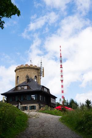 Josefs lookout tower at Mount Klet, Blansky forest, Czech Republic