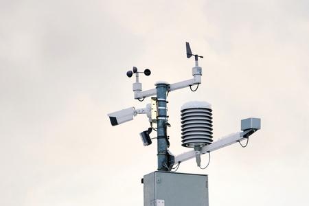 Estación meteorológica para pronóstico meteorológico, anemómetro, medidor de viento, sensores de dirección