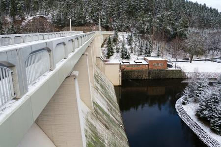 Brezova dam with hydroelectric power plant, Karlovy Vary, Czech Republic