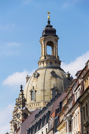 Dresden Frauenkirche, Church of Our Lady in Dresden, Germany
