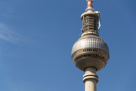 Fernsehturm televison tower close to Alexanderplatz in central Berlin, Germany