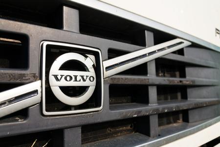 PRAGUE, CZECH REPUBLIC - MARCH 25 2018: Volvo cars Swedish company logo on March 25, 2018 in Prague, Czech Republic.