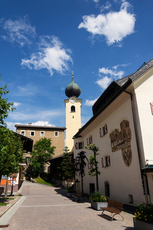 Parish Church of Saint Nicholas and Bartholomew in Saalbach, Austria Editöryel