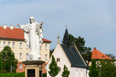 Jesus Christ with open arms statue, Velehrad Basilica, Czech Republic