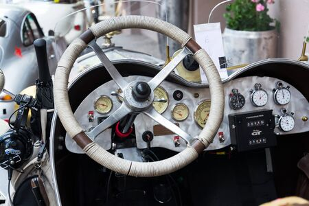 SAALBACH-HINTERGLEMM, AUSTRIA - JUNE 21 2018: Vintage car Ford Model A Speedster from 1930 oldsmobile veteran on June 21, 2018 in Saalbach-Hinterglemm, Austria.