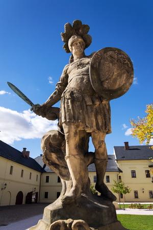 Small Christian warrior statue from Matyas Braun, 1731, Kuks, Hradec Kralove region, Trutnov district, Czech Republic