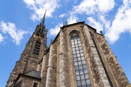Cathedral of Saints Peter and Paul on Petrov hill, Brno, South Moravia, Czech Republic, sunny summer day Stock Photo
