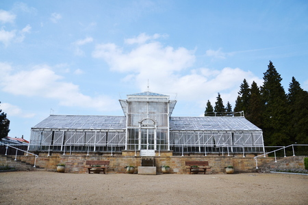 Cast-iron palm greenhouse in Lany, Czech Republic, Josip Plecnik